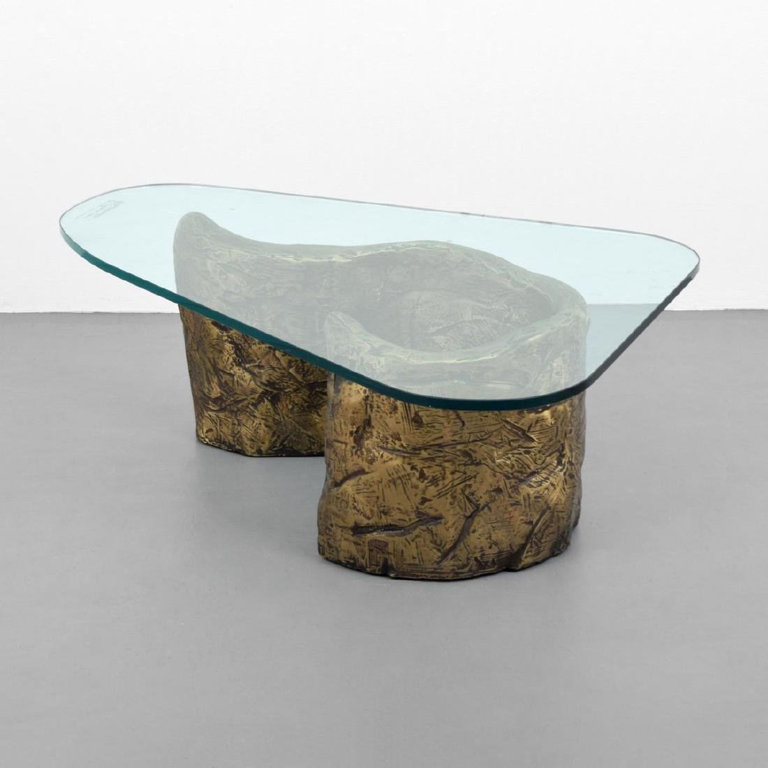 Brutalist Coffee Table, Manner of Silas Seandel