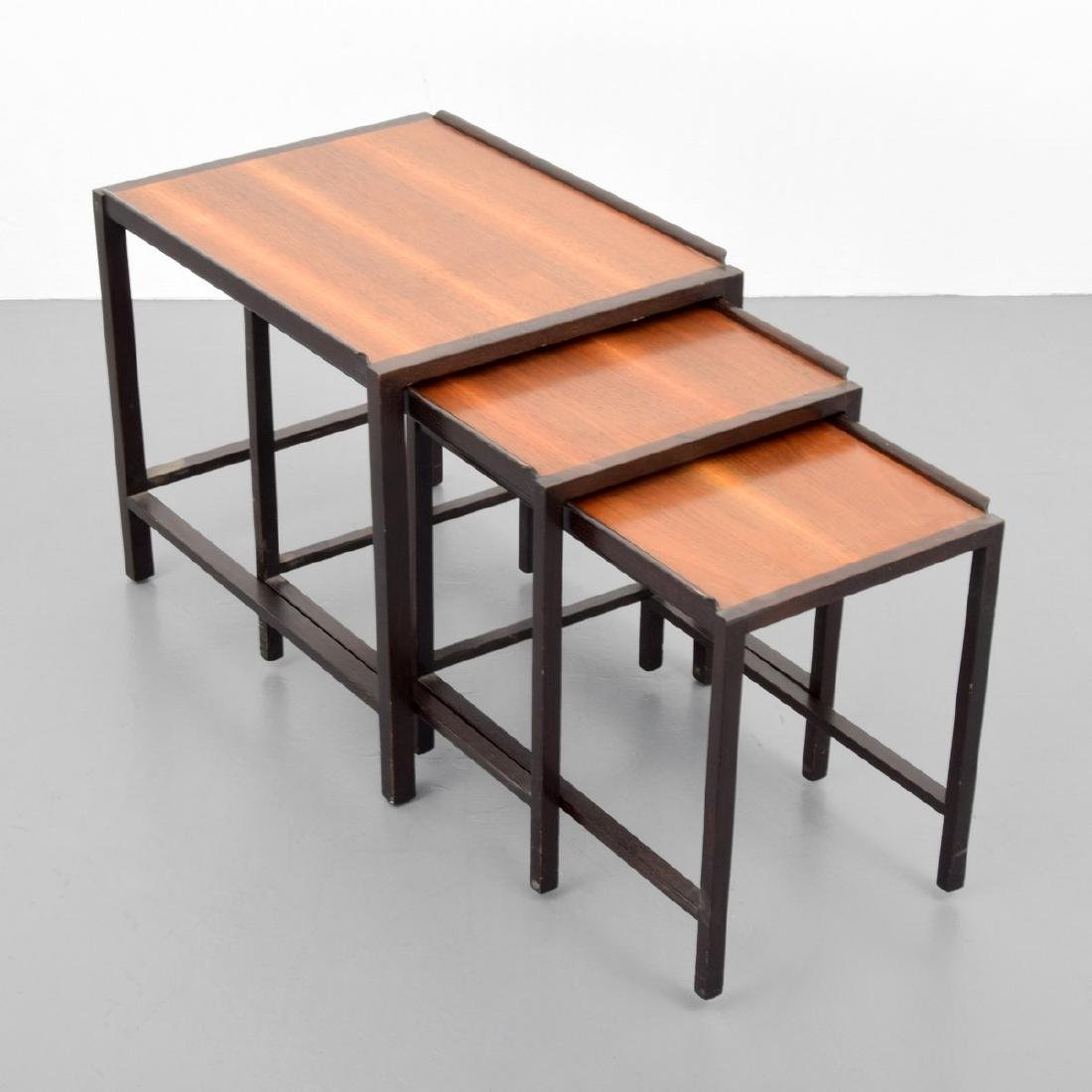 Edward Wormley 2-Tone Nesting Tables, Set of 3