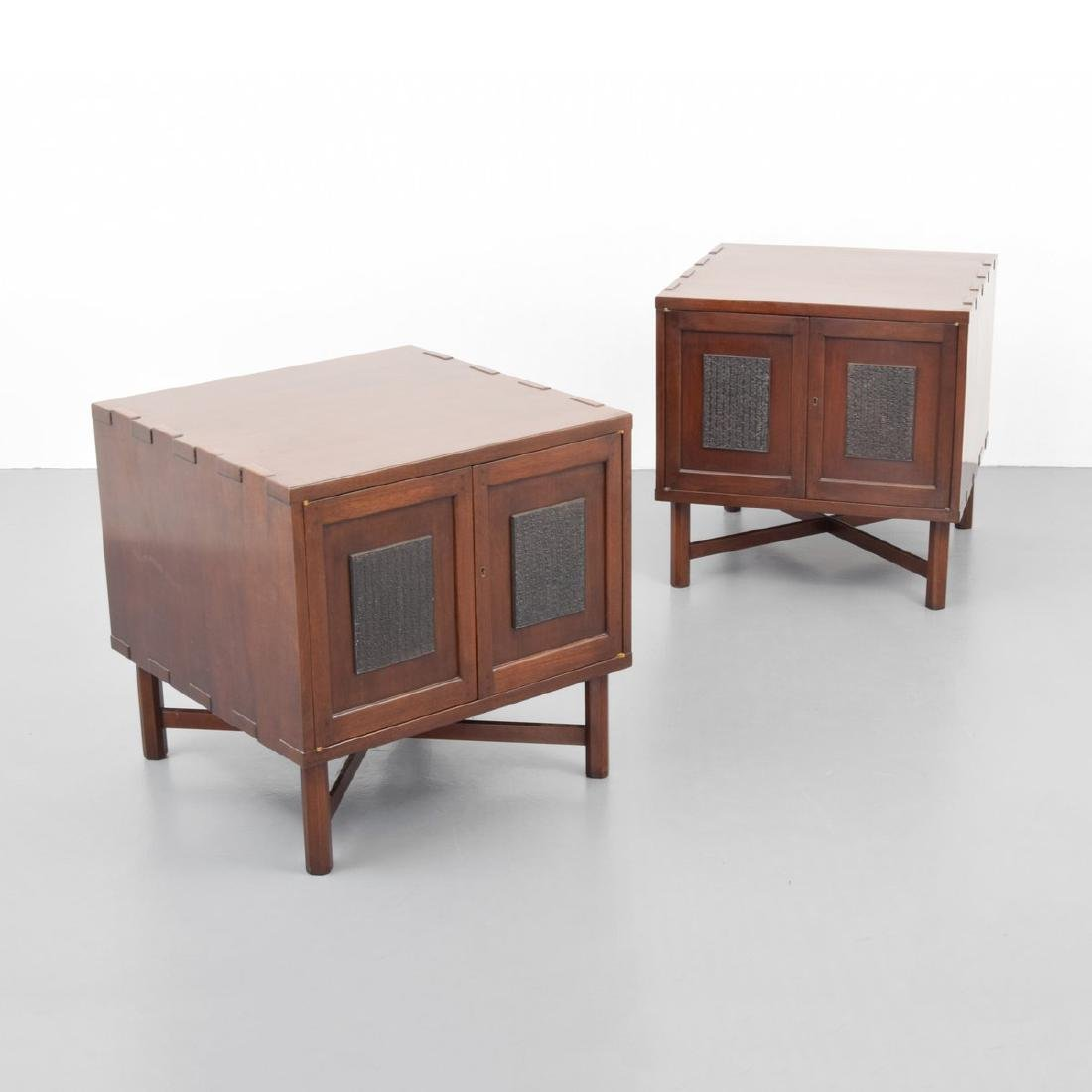 Pair of Custom Edward Wormley Nightstands/End Tables