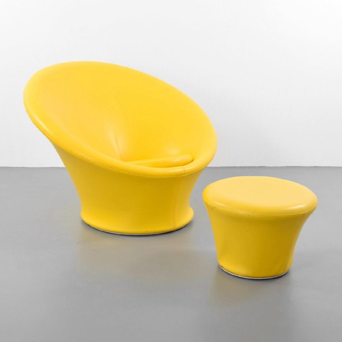 Pierre Paulin MUSHROOM Lounge Chair & Ottoman