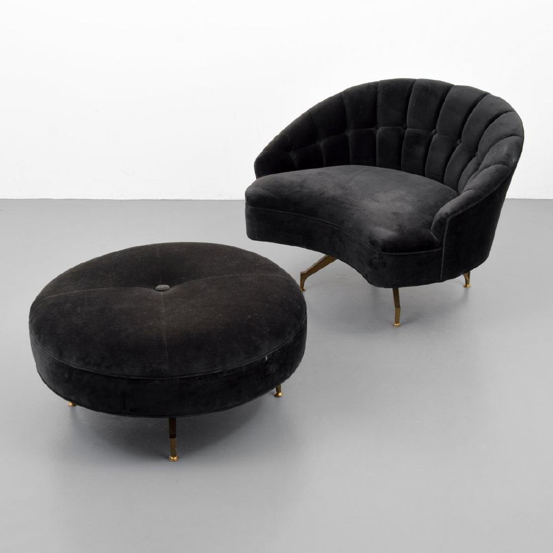 Lounge Chair & Ottoman, Manner of Milo Baughman