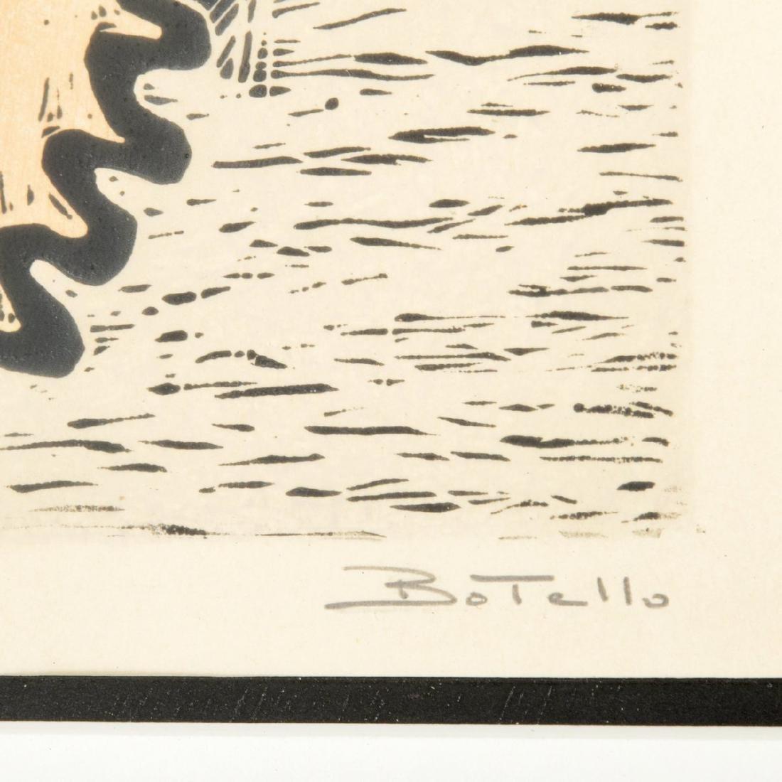 Angel Botello Woodcut Print, Signed Edition - 4