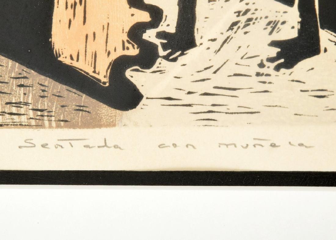 Angel Botello Woodcut Print, Signed Edition - 5