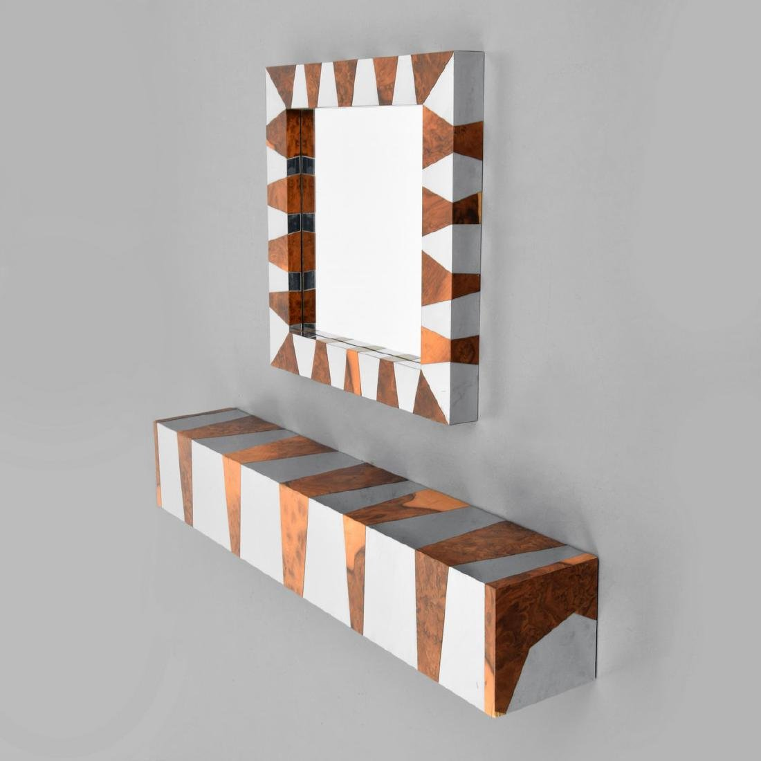 Console Table & Mirror, Manner of Paul Evans