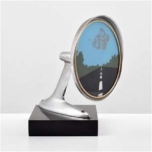 "Allan D'Arcangelo ""Side View Mirror"" Sculpture"