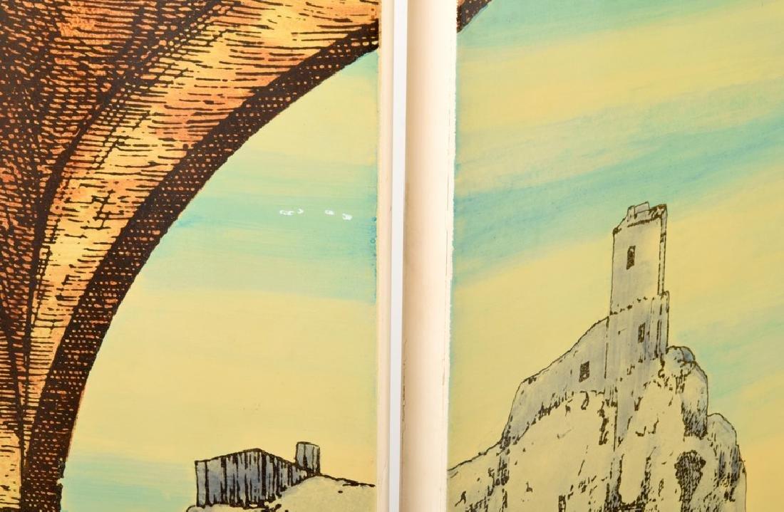 """Piero Fornasetti """"Libreria""""/""""Portico"""" Folding Screen - 8"""