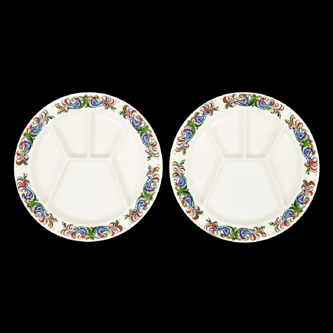 Pair of Villeroy & Boch Sectioned/Fondue Plates