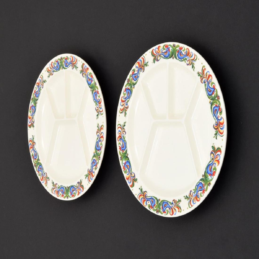 Pair of Villeroy & Boch Sectioned/Fondue Plates - 2