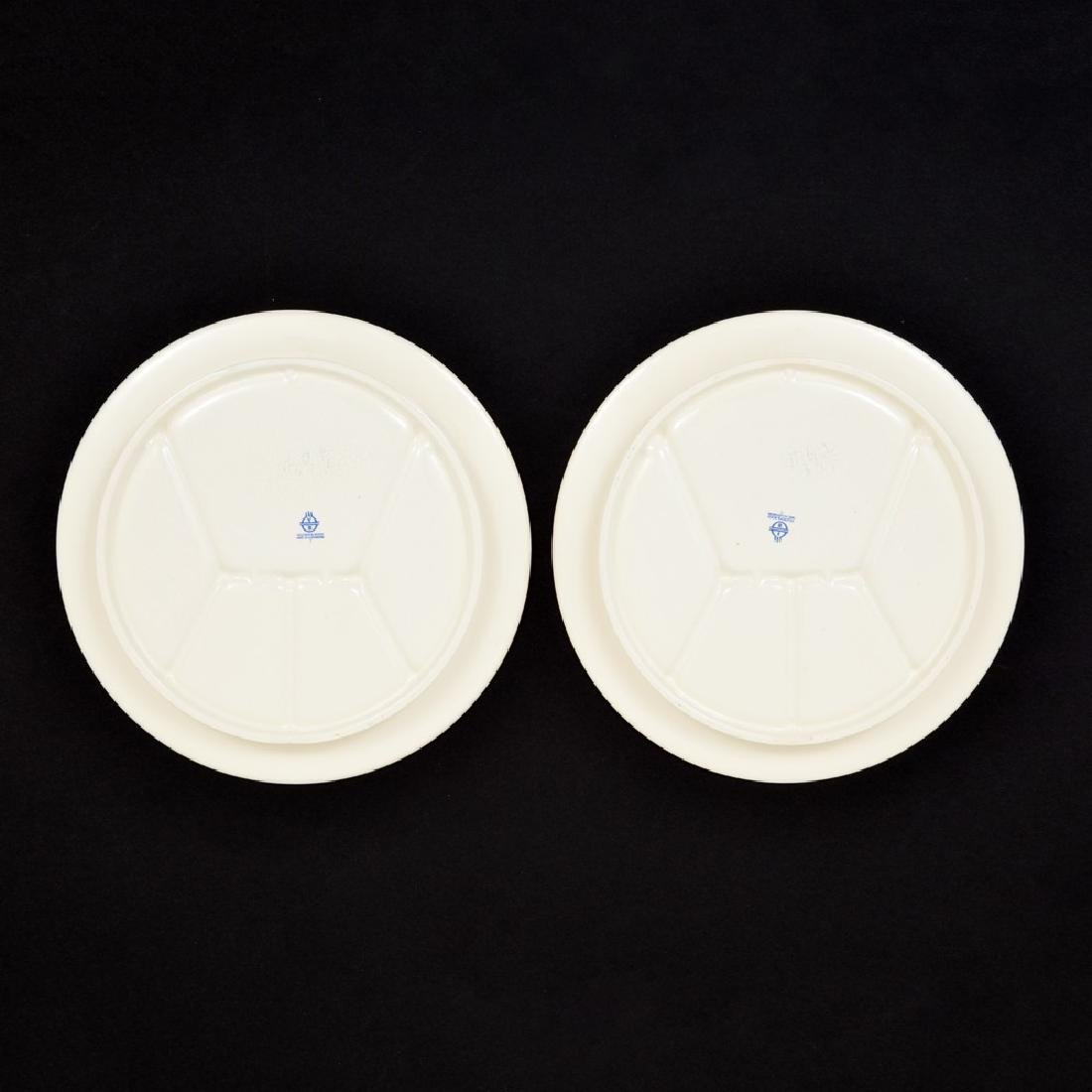Pair of Villeroy & Boch Sectioned/Fondue Plates - 4