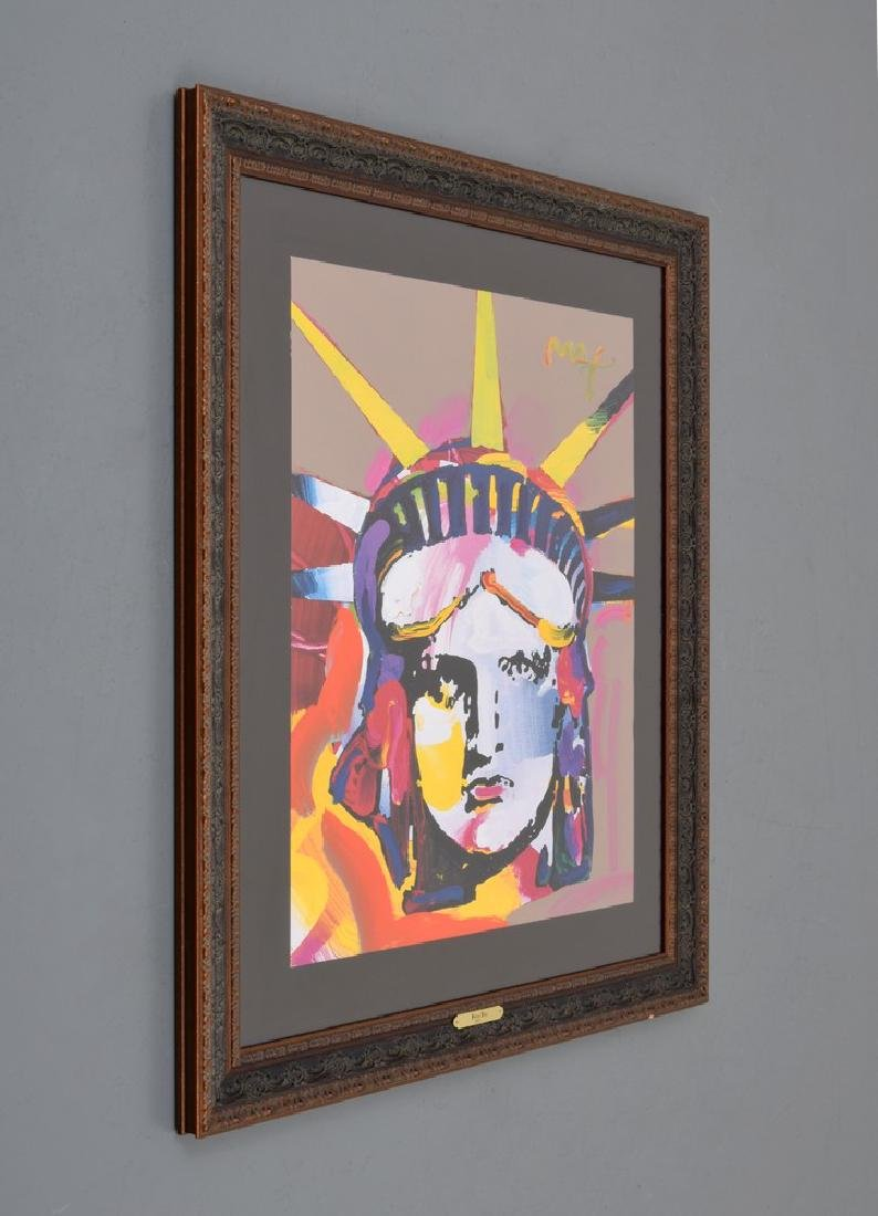 "Peter Max ""Statue of Liberty"" Mixed Media - 2"