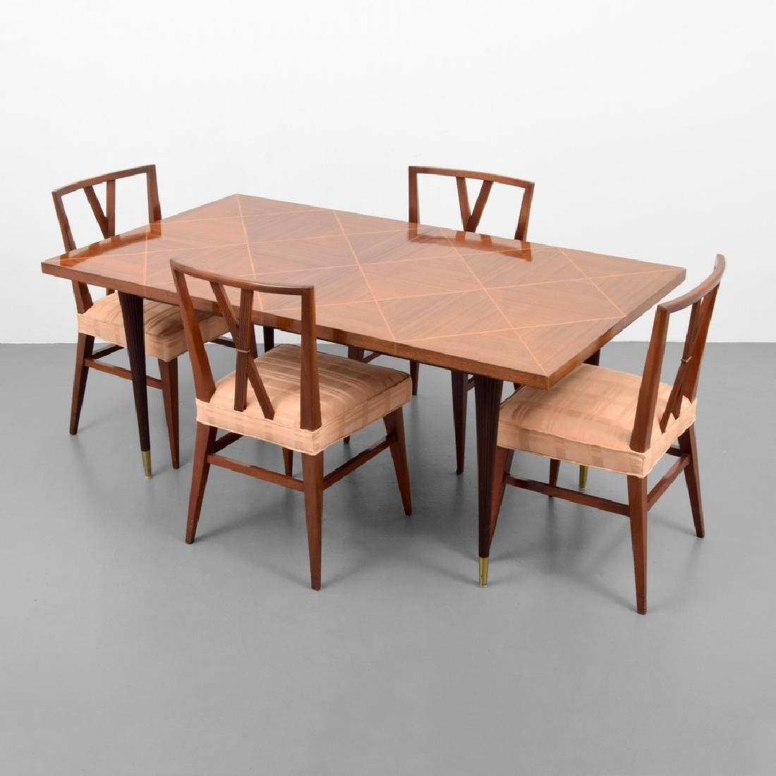 Tommi Parzinger Dining Table & 4 Chairs