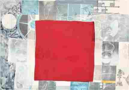 Large Robert Rauschenberg Mixed Media Collage