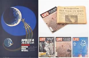 NASA Apollo 14 Mission Poster, Crew/Astronauts Signed