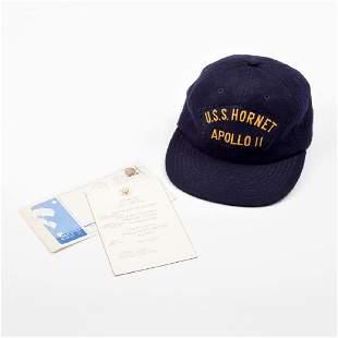 NASA Apollo 11 U.S.S. Hornet Original Recovery Hat