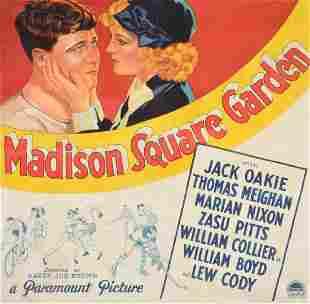 Large Madison Square Garden Movie Poster