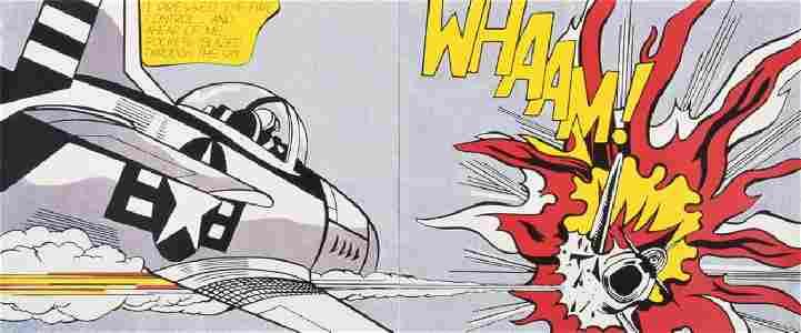 """Roy Lichtenstein (After) """"WHAAM"""" Print"""