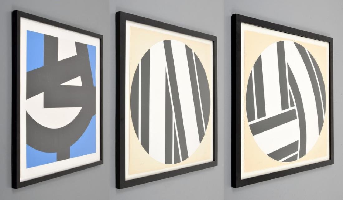 3 Pierre Clerk Abstract Geometric Prints, Signed