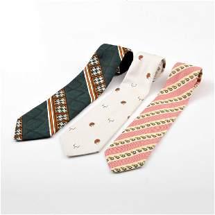 3 Vintage Neckties
