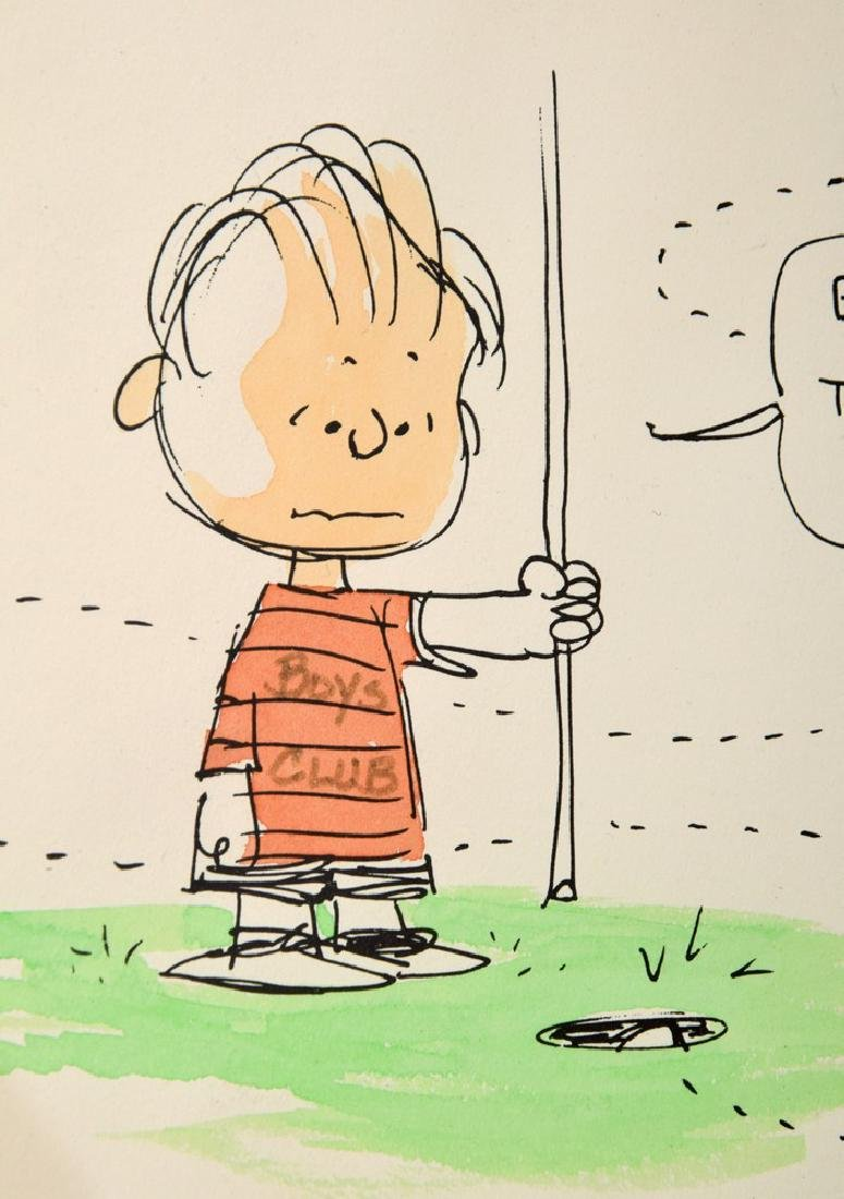 "Charles Schulz ""Peanuts"" Comic Drawing, Linus - 3"