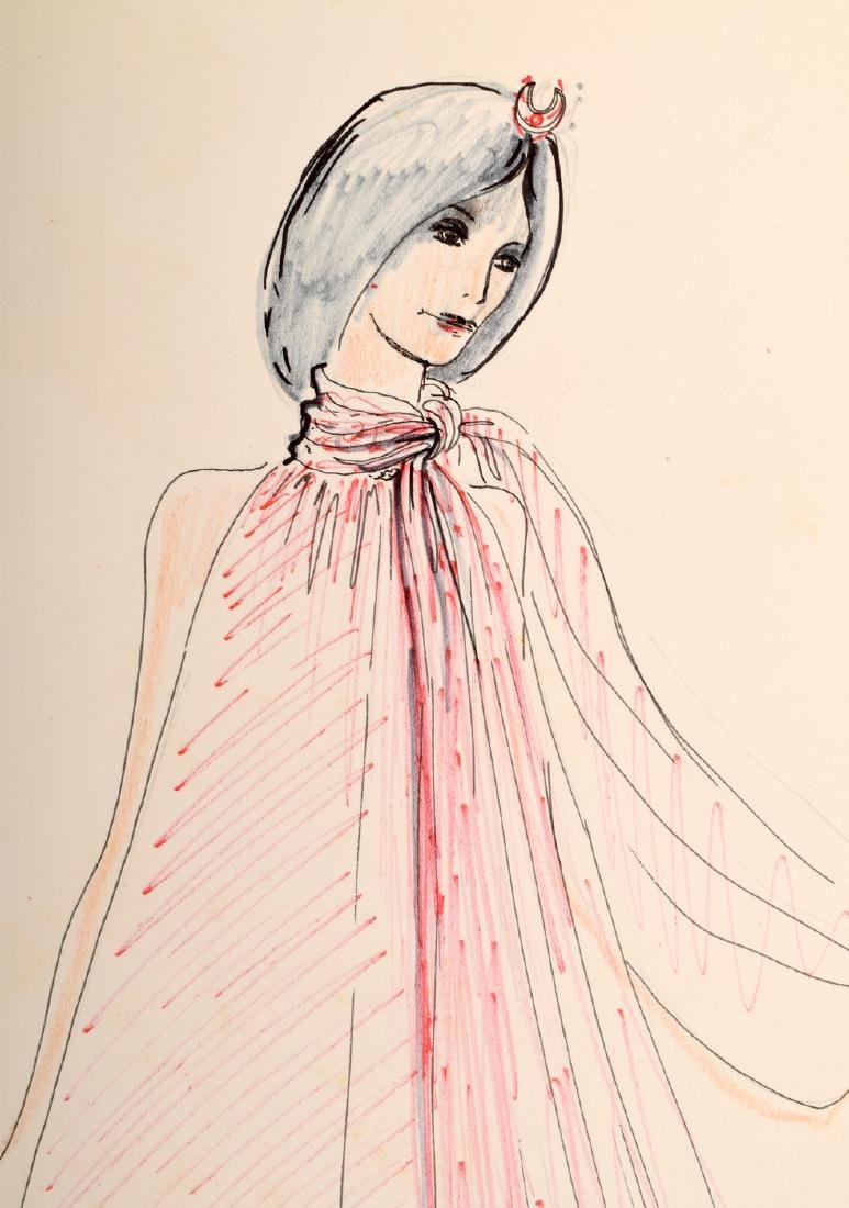 Karl Lagerfeld Fashion Drawing - 3
