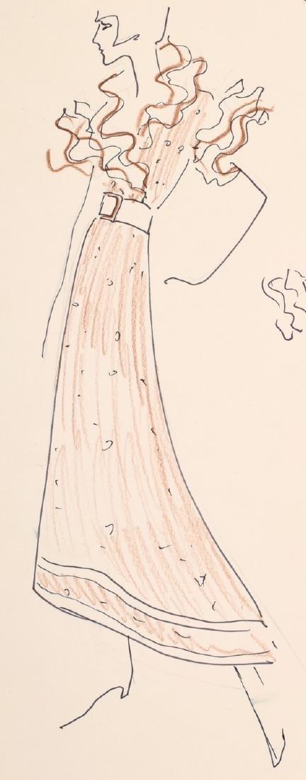 Karl Lagerfeld Fashion Drawing - 2