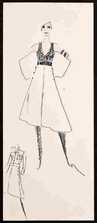 Karl Lagerfeld Fashion Drawing