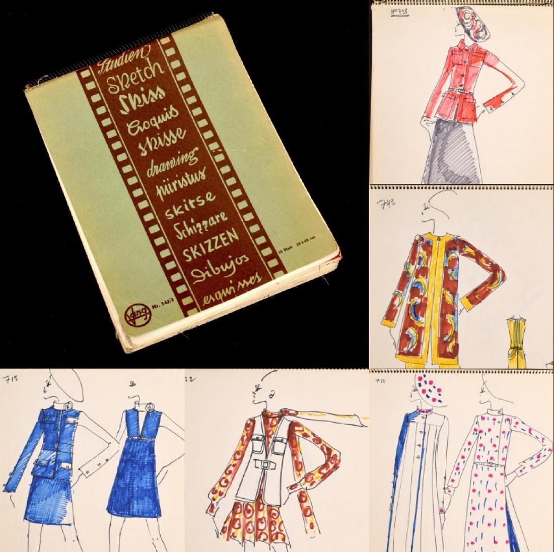 Karl Lagerfeld Fashion Drawings Sketch Book/Portfolio