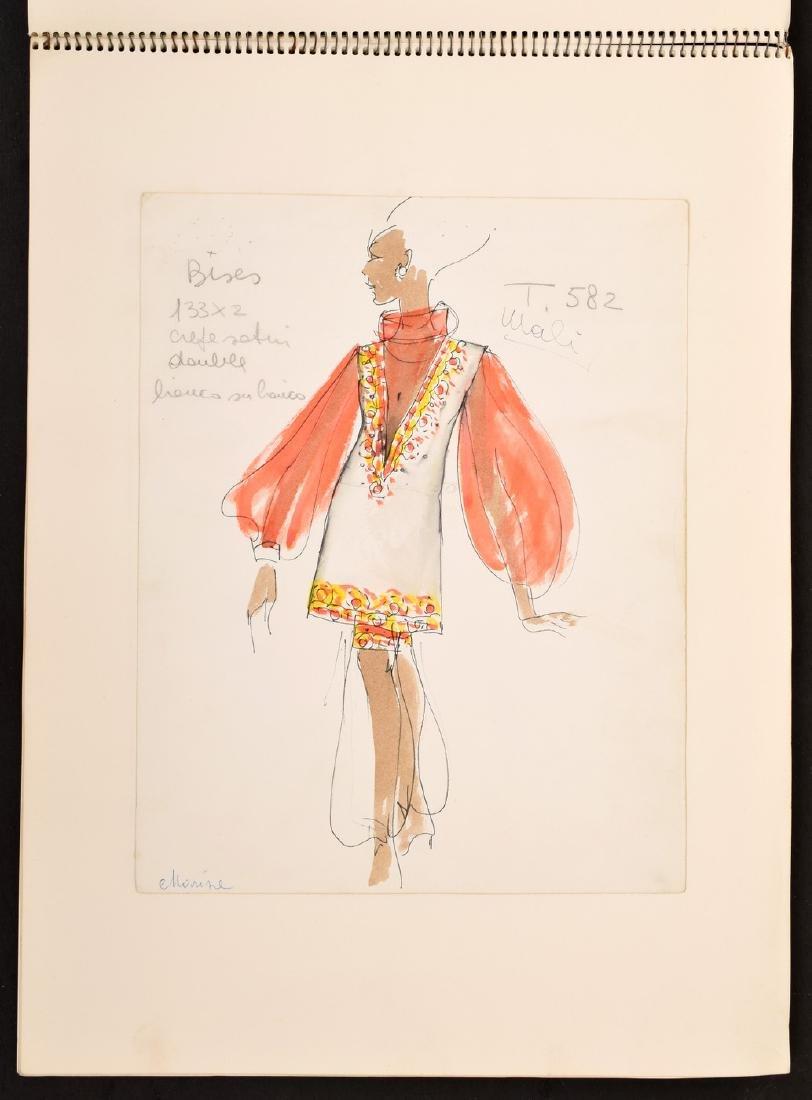 Karl Lagerfeld Fashion Drawings Sketch Book/Portfolio - 3