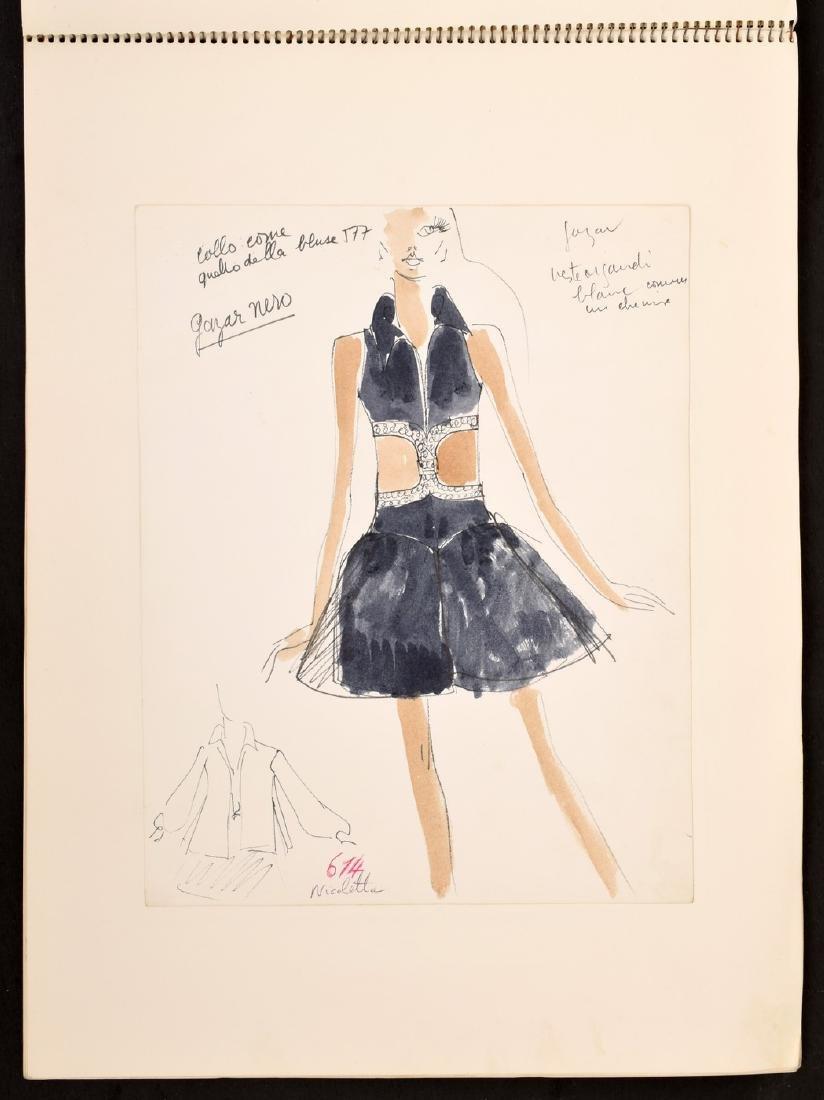 Karl Lagerfeld Fashion Drawings Sketch Book/Portfolio - 4