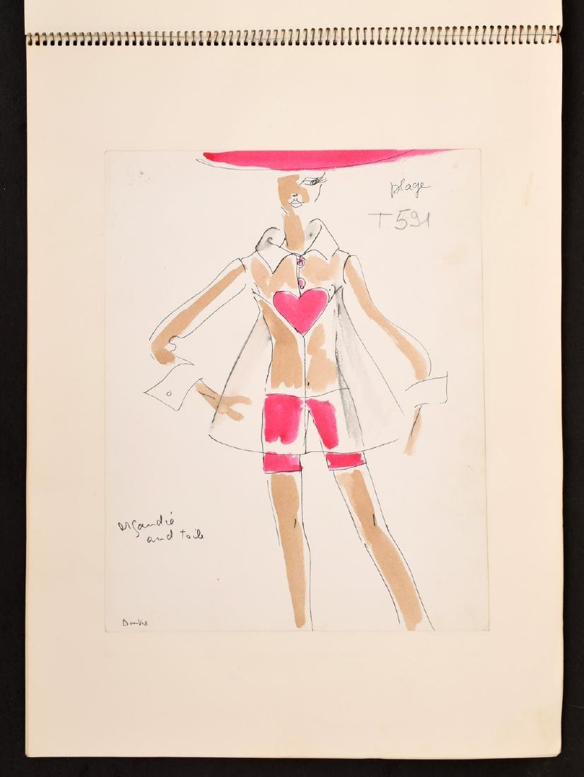 Karl Lagerfeld Fashion Drawings Sketch Book/Portfolio - 5