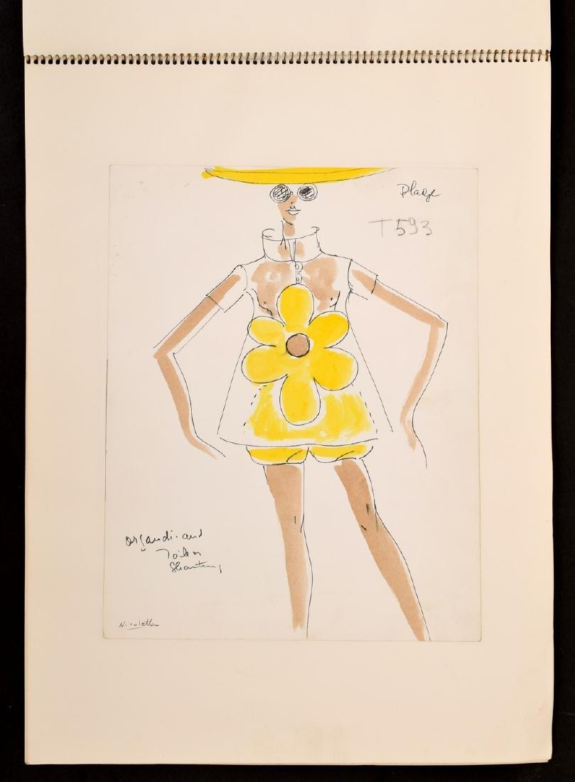 Karl Lagerfeld Fashion Drawings Sketch Book/Portfolio - 6