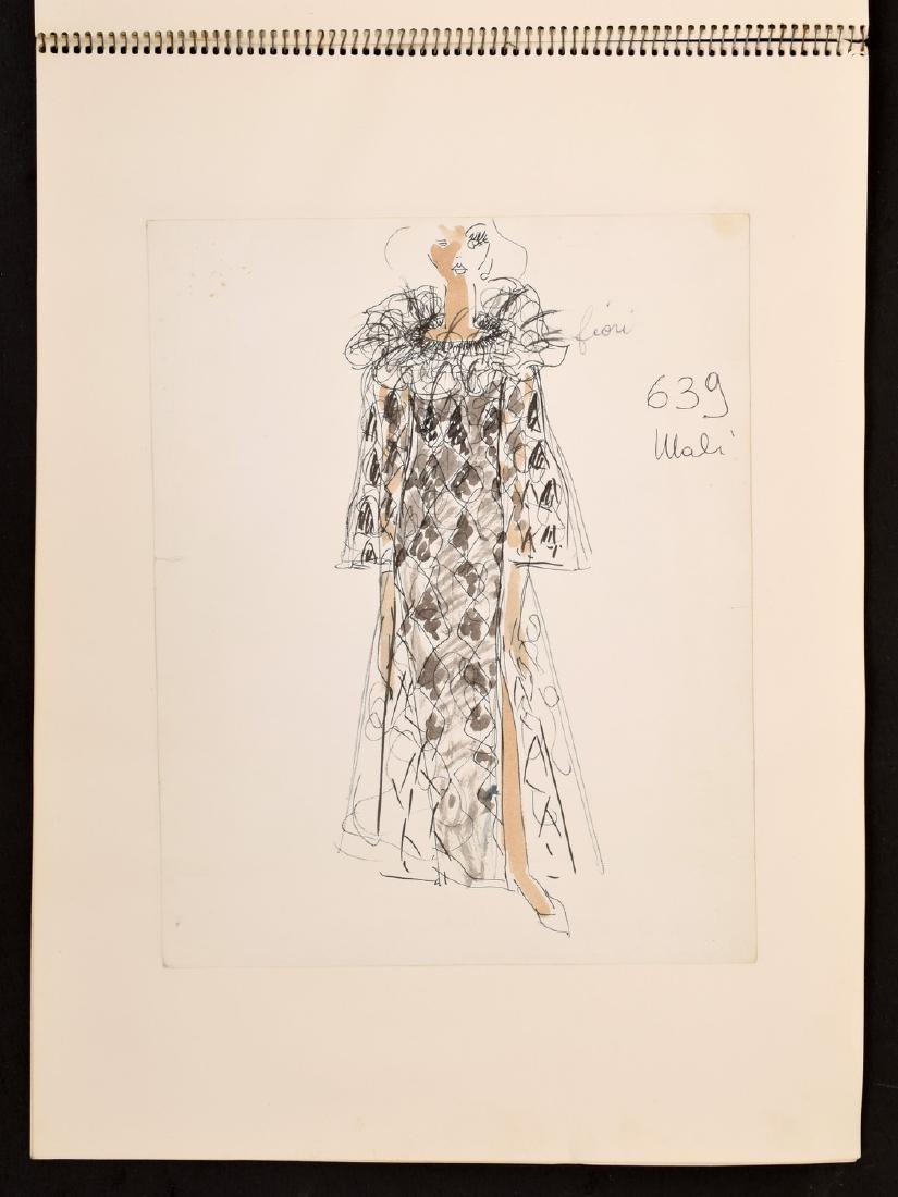 Karl Lagerfeld Fashion Drawings Sketch Book/Portfolio - 7