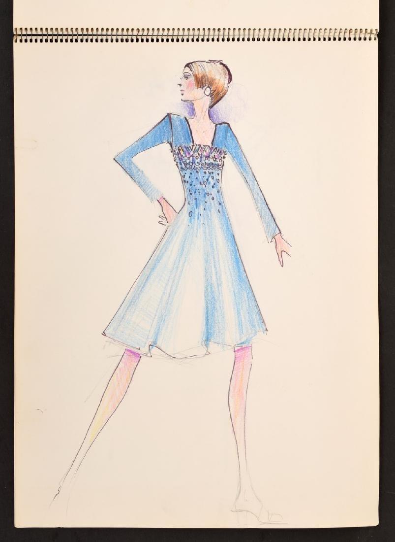 Karl Lagerfeld Fashion Drawings Sketch Book/Portfolio - 8