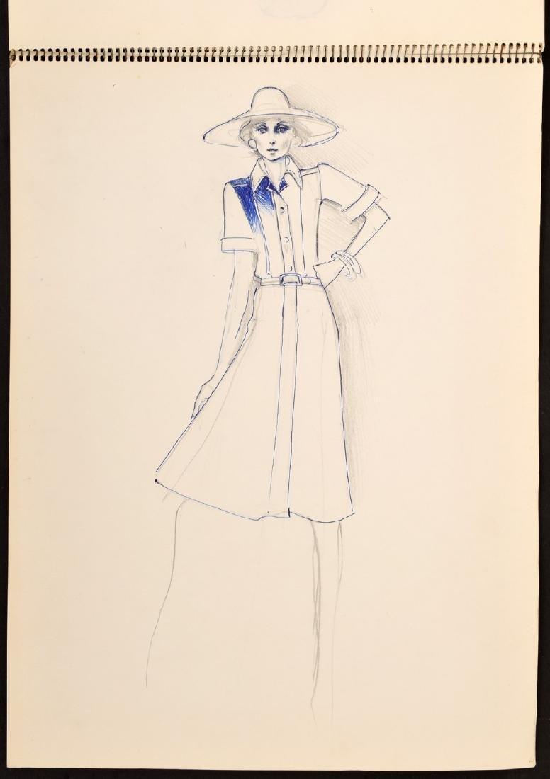 Karl Lagerfeld Fashion Drawings Sketch Book/Portfolio - 9