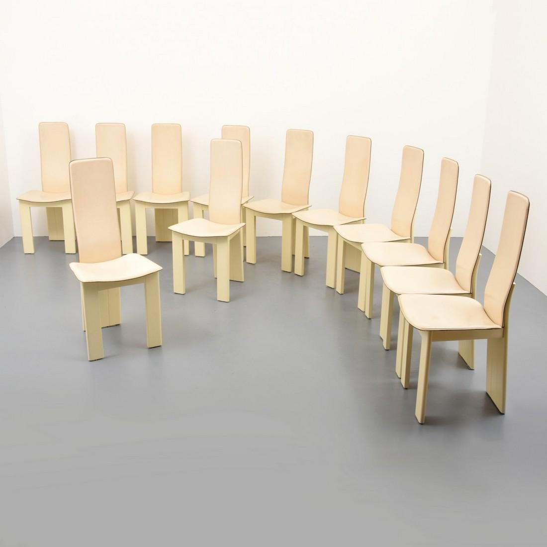 Set of 12 Dining Chairs, Manner of Afra & Tobia Scarpa
