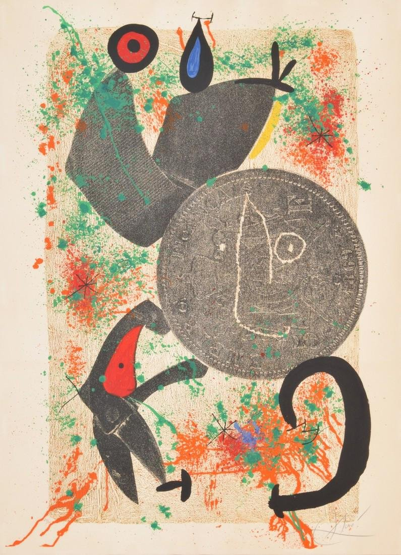 Large Joan Miro Lithograph, Signed Edition