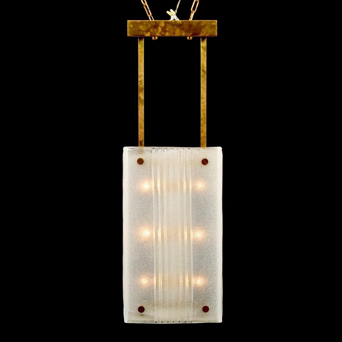 Massive Murano Pendant Light, Manner of Barovier & Toso