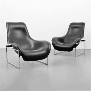 "Pair of Antonio Citterio ""Mart"" Lounge Chairs"