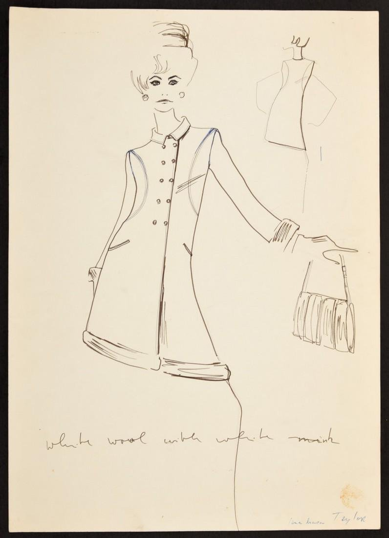 Karl Lagerfeld Fashion Drawing