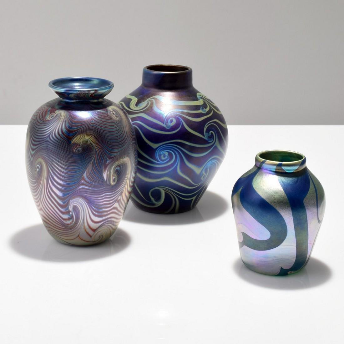 3 Vases: Lundberg Studios, Mark Peiser