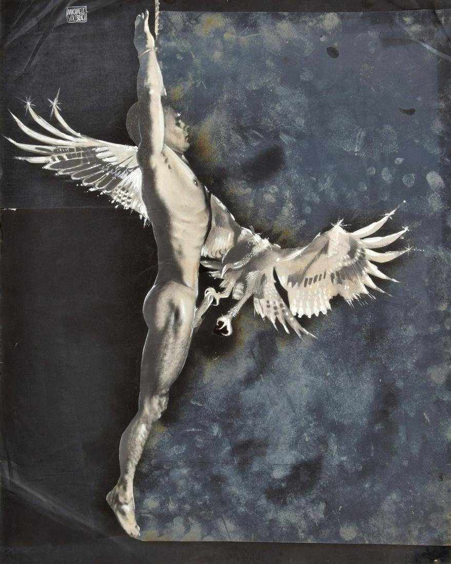 Michaele Vollbracht Male Nude Mixed Media Collage