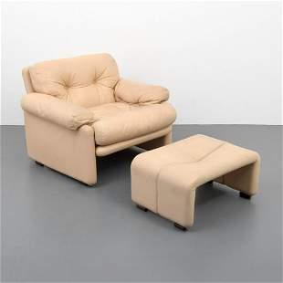 """Tobia Scarpa """"Coronado"""" Lounge Chair & Ottoman"""