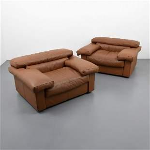 "Pair of Afra & Tobia Scarpa ""Erasmo"" Lounge Chairs"