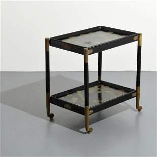 Rare Piero Fornasetti Folding Cart, Removable Trays