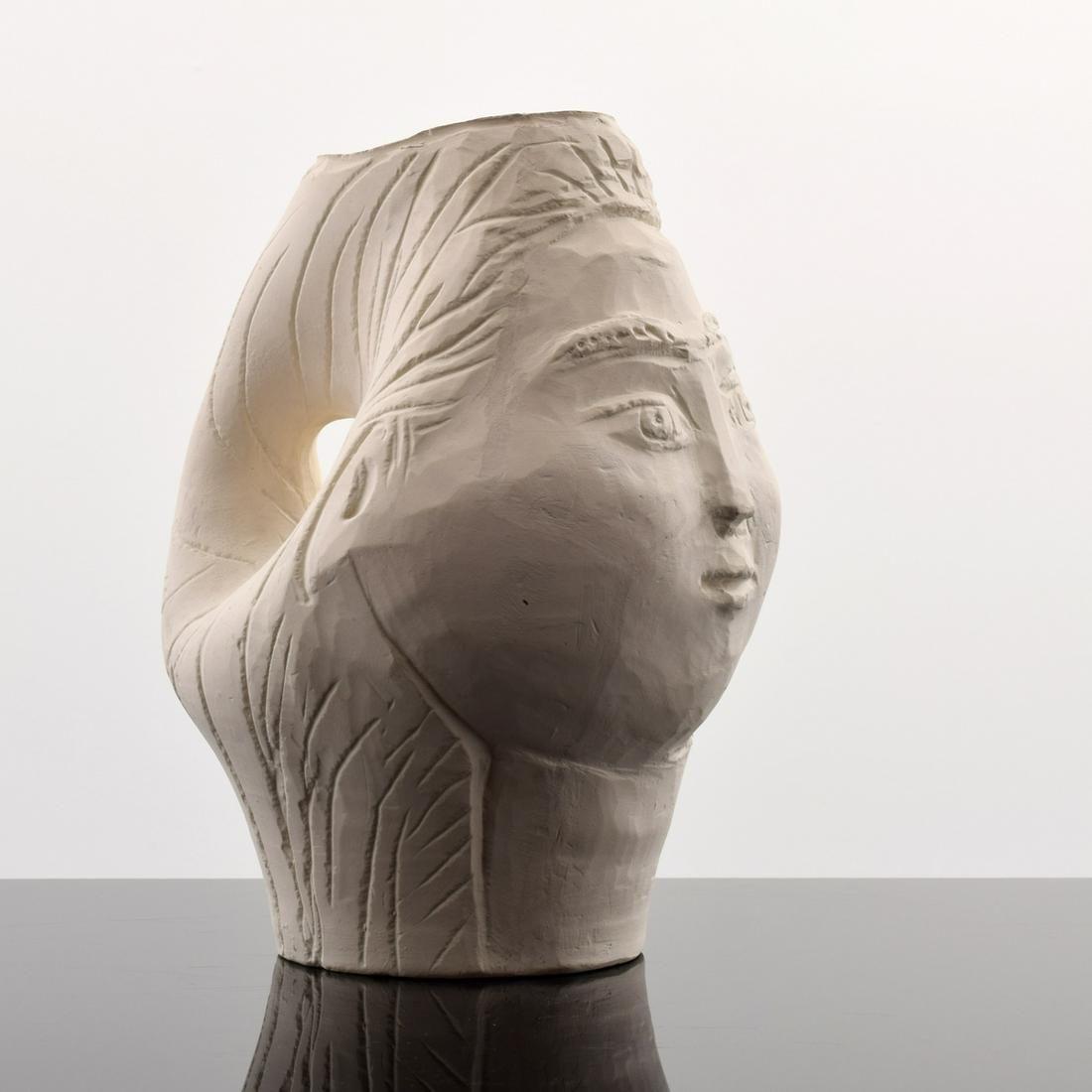"""Pablo Picasso """"Tete de Femme"""" Pitcher, Madoura (A.R."""