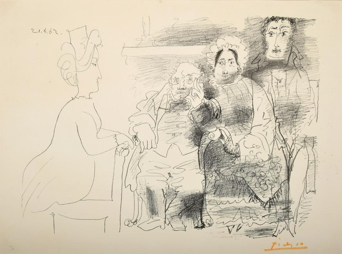 """Pablo Picasso """"Portrait de Famille"""" Lithograph, Signed"""
