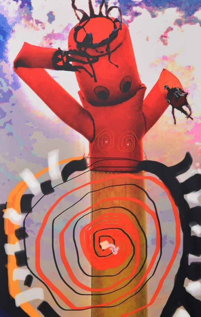 """Robert Peatross """"Shazam"""" Illuminated Mixed Media"""
