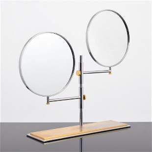 Rare Karl Springer Double Table Top Mirror