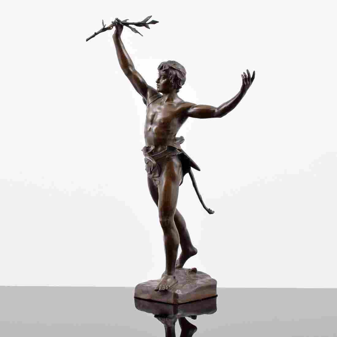 Eugene Marioton Bronze Figural Sculpture