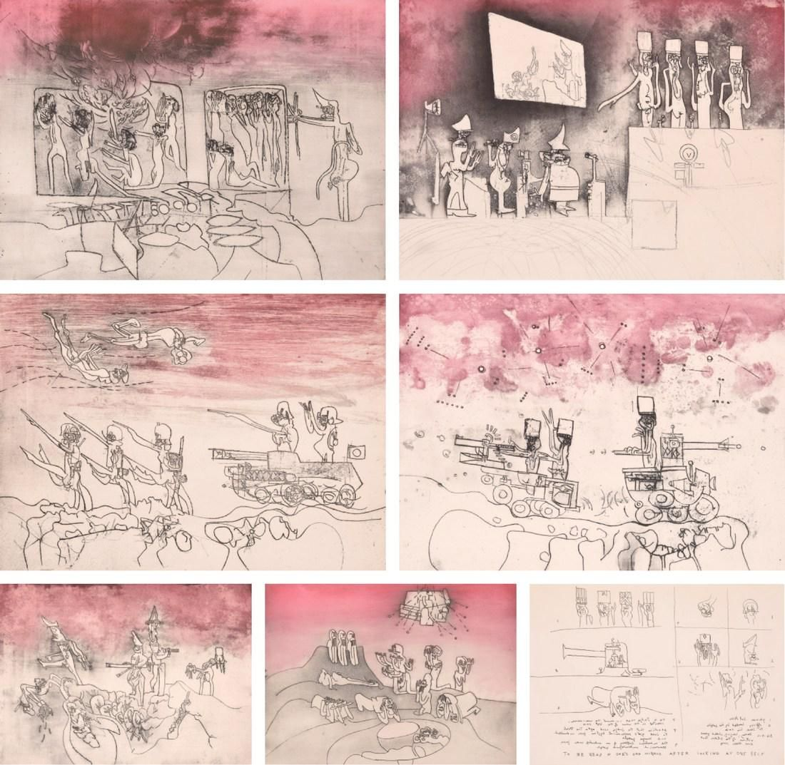 "Roberto Matta ""Judgments"" Portfolio,  7 Works"